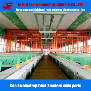 Automatic Rack Plating Line, Elevated Arch Gantry Crane Plating Line