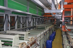 Automatic gantry barrel plating production line