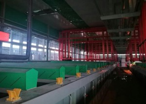 Fully automatic gantry hanging plating production line